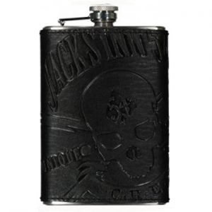Jack's Inn 54 Painkiller Flachmann Deep Black Oil-pulled Leather